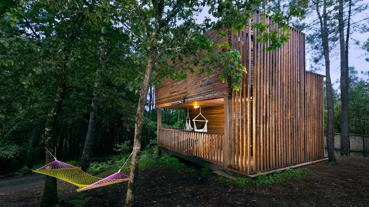 Refugio en el bosque con piscina jacuzzi barbacoa - Refugios con encanto ...